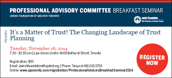 Professional Advisors Breakfast Seminar November 18, 2014