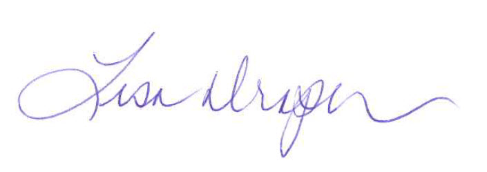 Lisa Draper signature
